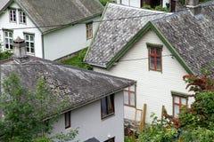Деревня Geiranger, фьорд Geiranger, Норвегия Стоковое Изображение