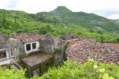 Деревня Godinje на Черногории Стоковые Фотографии RF
