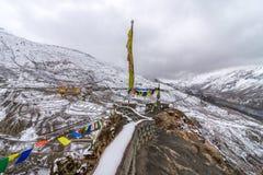 Деревня Gompa - Dhankar, долина Spiti, Himachal, Индия стоковая фотография rf