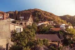 Деревня Gourri Деревня в районе Никосии Кипра col стоковые фотографии rf