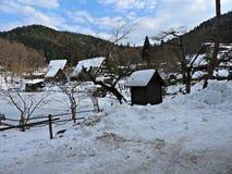 Деревня Hida фольклорная, Takayama, Япония Стоковая Фотография
