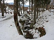 Деревня Hida фольклорная, Takayama, Япония Стоковые Изображения RF
