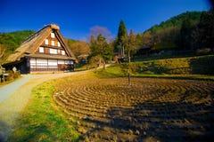 Деревня Hida Hida фольклорная отсутствие Sato стоковое изображение