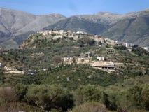 Деревня Himara, старый город, южная Албания Стоковое Изображение RF
