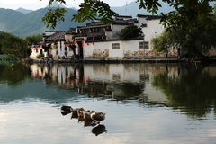 Деревня Hong - провинция Аньхоя - историческая деревня Китая Стоковое Фото