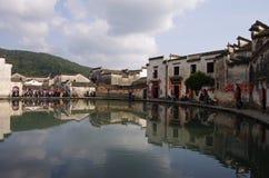 Деревня HongCun, Аньхоя, Китая Стоковые Изображения