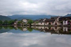 Деревня Hongcun в Аньхое Provunce, Китае Стоковые Изображения RF