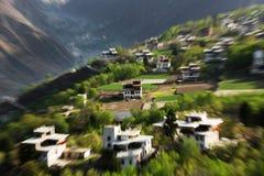 Деревня Jiaju тибетская Сычуань Китая Стоковые Фото