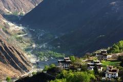 Деревня Jiaju тибетская Сычуань Китая Стоковое Изображение RF