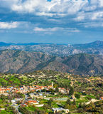 Деревня Kato Lefkara Район Лимасола, Кипр Стоковые Изображения