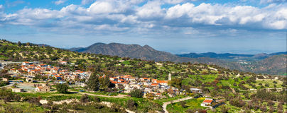 Деревня Kato Lefkara Район Лимасола, Кипр Стоковая Фотография RF