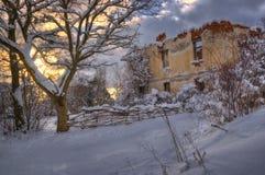 Деревня Komshtitsa, Болгария - изображение зимы Стоковые Фотографии RF