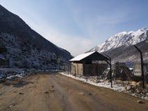 Деревня Lachen и Lachung, Сикким ИНДИЯ, 14-ое апреля 2013: s Стоковые Фотографии RF