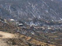 Деревня Lachen и Lachung, Сикким ИНДИЯ, 14-ое апреля 2013: s Стоковые Изображения