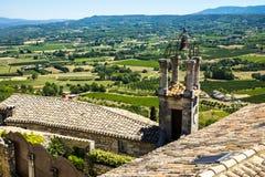 Деревня Lacoste в Провансали Франции стоковое изображение rf