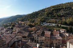 Деревня Luseram горы старая, Провансаль Alpes Cote d'Azur стоковая фотография