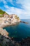 Деревня Manarola и Cinque Terre Стоковые Изображения RF