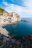 Деревня Manarola и Cinque Terre Стоковое Изображение