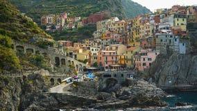 Деревня Manarola, национальный парк Cinque Terre, Италия стоковое фото