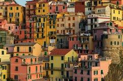 Деревня Manarola на побережье Cinque Terre Стоковая Фотография RF