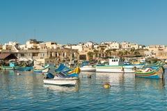 Деревня Marsaxlokk, Мальта Стоковые Изображения RF