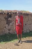Деревня Masai вне дома Стоковые Фото