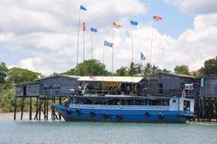 Деревня Mentandak молы новая, остров Sebatik Стоковые Изображения RF