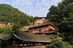 Деревня miao Xijiang в Гуйчжоу, фарфоре Стоковое Изображение RF