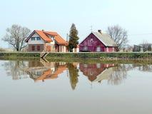 Деревня Minge, Литва Стоковая Фотография RF