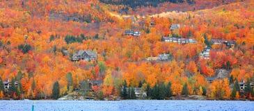 Деревня Mont Tremblant в Квебеке стоковые изображения rf