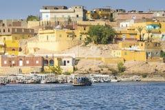 Деревня Nubian традиционная, озеро Nasser, Египет Стоковые Изображения RF