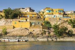 Деревня Nubian традиционная, озеро Nasser, Египет Стоковые Фотографии RF