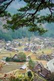 Деревня Ogimachi в Shirakawago Стоковое Изображение
