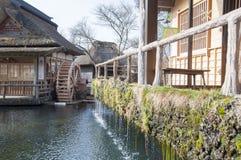 Деревня Oshino Hakkai, пункт назначения в Японии стоковые фотографии rf