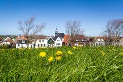 Деревня Oudeschild на острове Texel в Нидерландах Стоковые Изображения RF