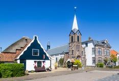 Деревня Oudeschild на острове Texel в Нидерландах Стоковые Изображения