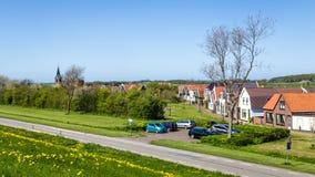 Деревня Oudeschild на острове Texel в Нидерландах Стоковое Изображение RF