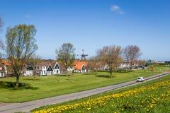 Деревня Oudeschild на острове Texel в Нидерландах Стоковая Фотография RF