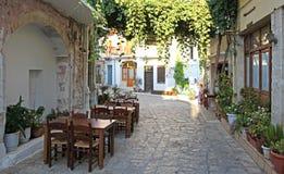 Деревня Panormo на Крите, Греции Стоковая Фотография RF