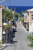 Деревня Panormo на Крите, Греции Стоковая Фотография