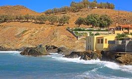 Деревня Panormo на Крите, Греции стоковые фото