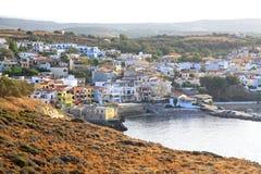 Деревня Panormo на Крите, Греции Стоковое Изображение RF
