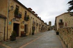Деревня Pedraza средневековая, Испания Стоковые Изображения