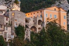 Деревня Peille горы старая, Провансаль Alpes, Франция стоковые фото