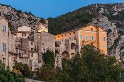 Деревня Peille горы старая, Провансаль Alpes, Франция стоковое изображение rf