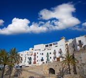 Деревня Peniscola старая в Castellon Испании стоковое фото rf
