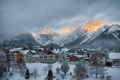 Деревня Pertisau на Альпах в Тироле, Австрии Стоковое фото RF