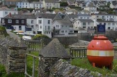 Деревня Portscatho в Корнуолле Стоковое Изображение RF