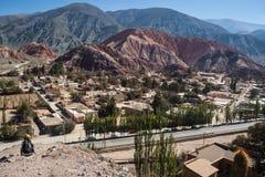 Деревня Purmamarca в к северо-западу от Аргентины Стоковое Изображение RF