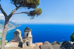 Деревня Ravello, побережье Амальфи Италии Стоковое Изображение